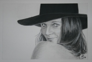Girl in a black hat (sold)